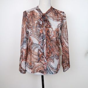 NWT Anthropologie Meadow Rue Briarcliff Blouse XS